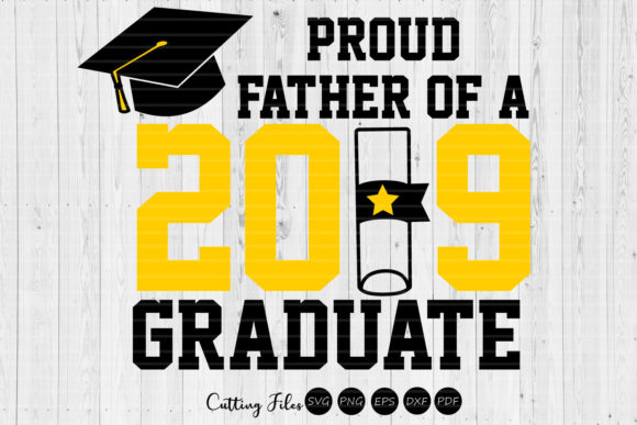 Print on Demand: Father of a Graduate | Graduation SVG Graphic Graphic Templates By HD Art Workshop