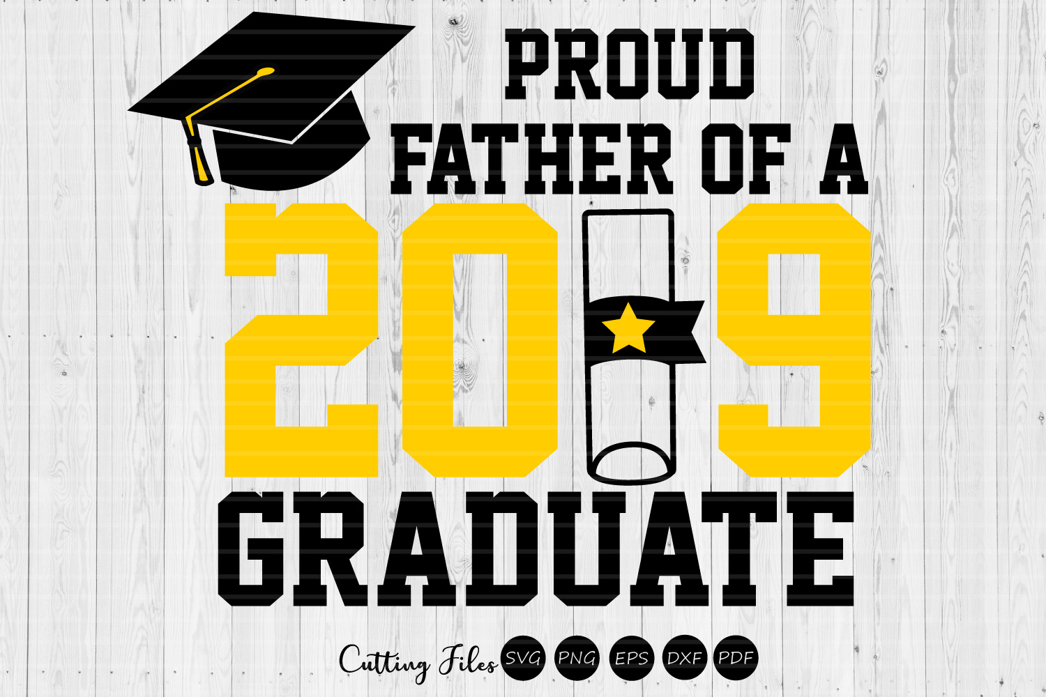Father Of A Graduate Graduation Svg Graphic By Hd Art Workshop
