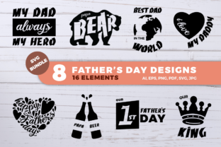 Father's Day SVG Bundle Graphic By duka