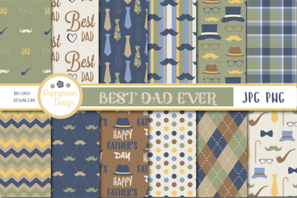 Print on Demand: Fathers Day Set Graphic Illustrations By poppymoondesign