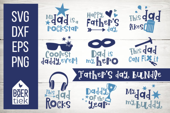 Father's Day Bundle Graphic Crafts By Boertiek
