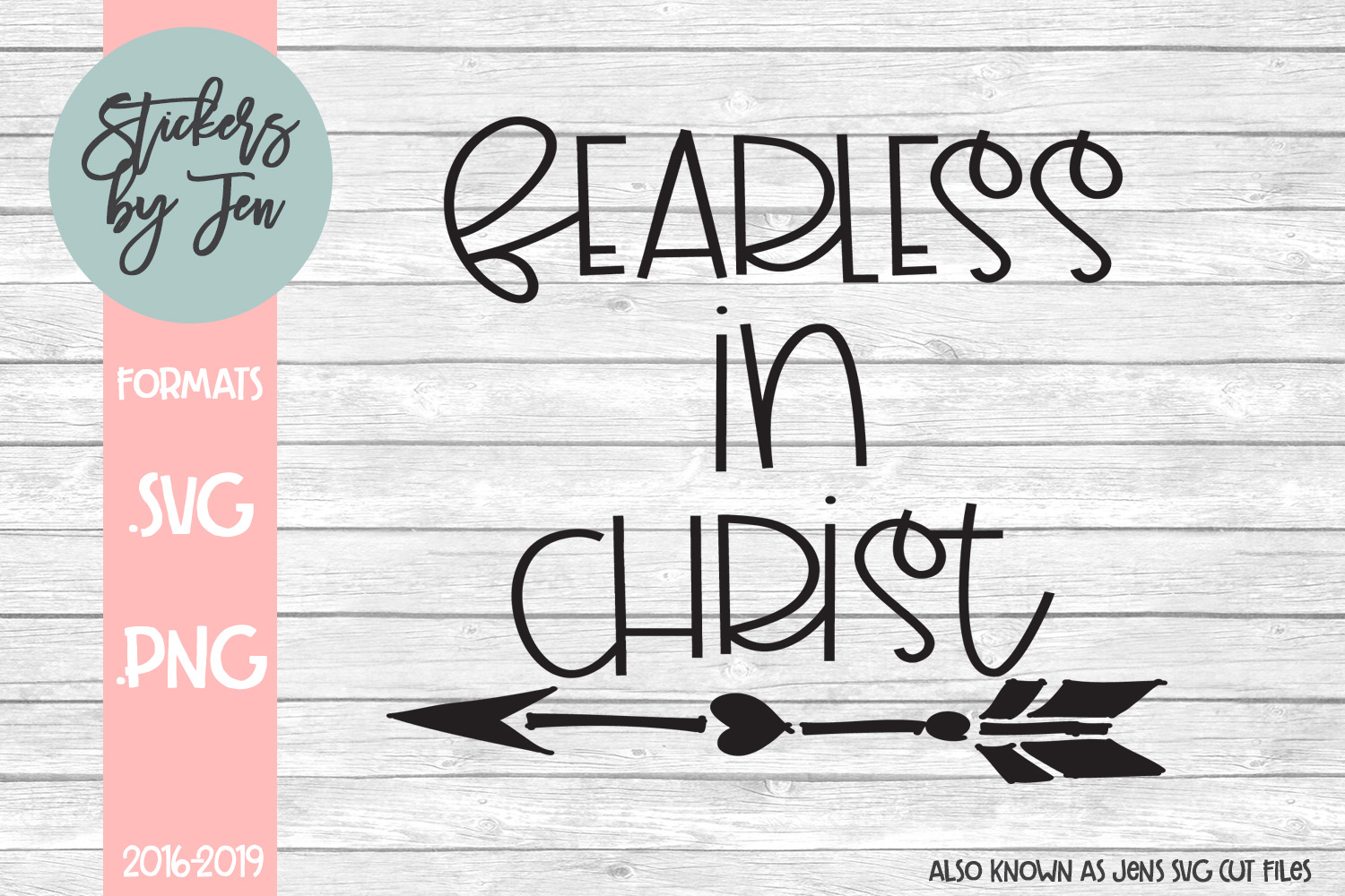 Download Free Fearless In Christ Svg Graphic By Stickers By Jennifer for Cricut Explore, Silhouette and other cutting machines.