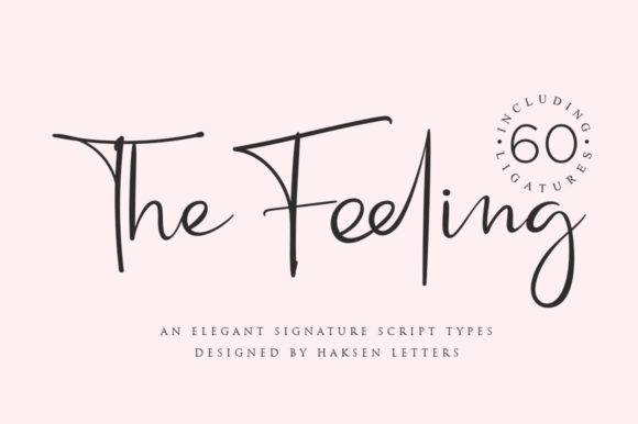 Print on Demand: The Feeling Script & Handwritten Font By Haksen - Image 1