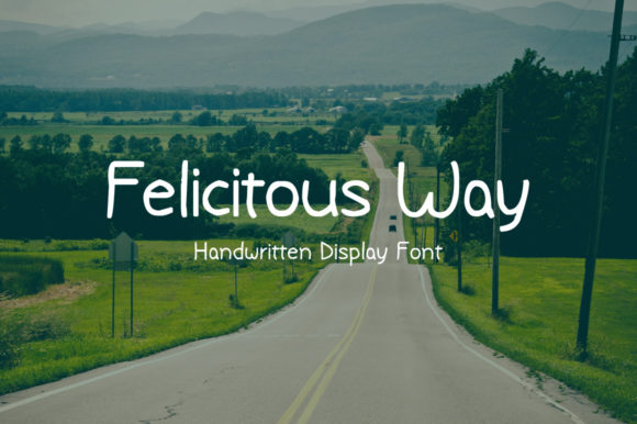 Print on Demand: Felicitous Way Display Font By Nuovo Tocco