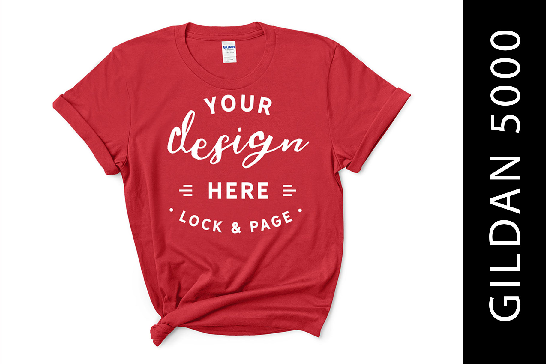 Download Free Feminine Red Gildan 5000 T Shirt Mockup Graphic By Lockandpage for Cricut Explore, Silhouette and other cutting machines.