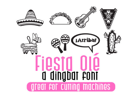 Print on Demand: Fiesta Ole Dingbats Font By Illustration Ink