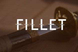 Fillet Font By da_only_aan