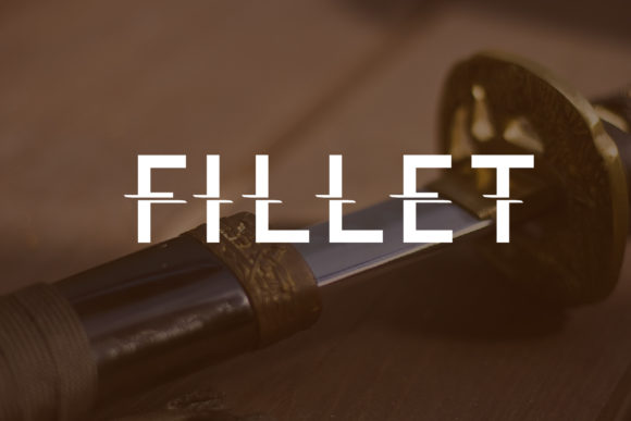 Print on Demand: Fillet Decorative Font By da_only_aan - Image 1