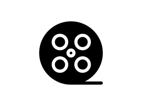 Film Glyph Vector Icon