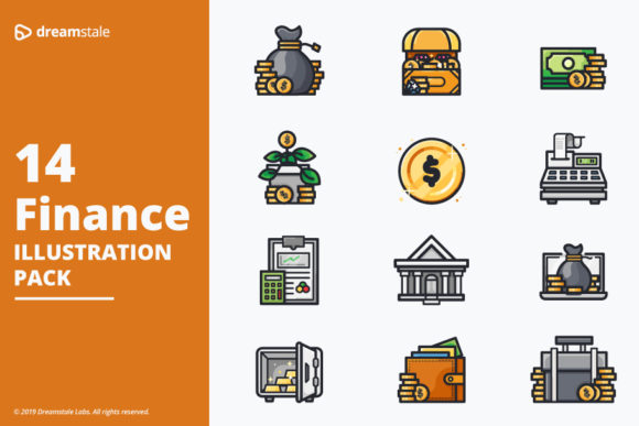 Download Free Finance Vector Icons Pack Graphic By Icon Stale Creative Fabrica for Cricut Explore, Silhouette and other cutting machines.