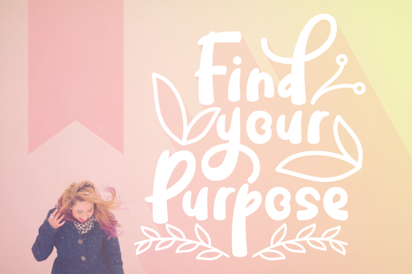 Print on Demand: Find Your Purpose Script & Handwritten Font By Rifki (7ntypes)