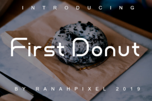 Print on Demand: First Donut Slab Serif Font By Ranahpixel