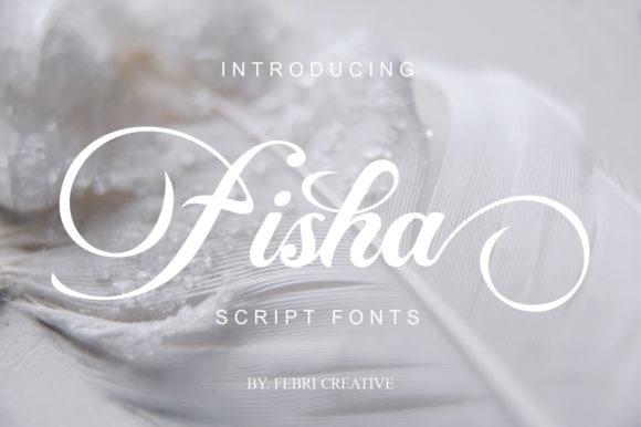 Print on Demand: Fisha Script Script & Handwritten Font By Febri Creative