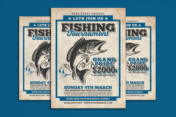 Fishing Tournament Flyer Graphic Print Templates By muhamadiqbalhidayat