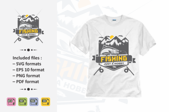 Download Free Fishing Tshirt Design Graphic By Ahsancomp Studio Creative for Cricut Explore, Silhouette and other cutting machines.