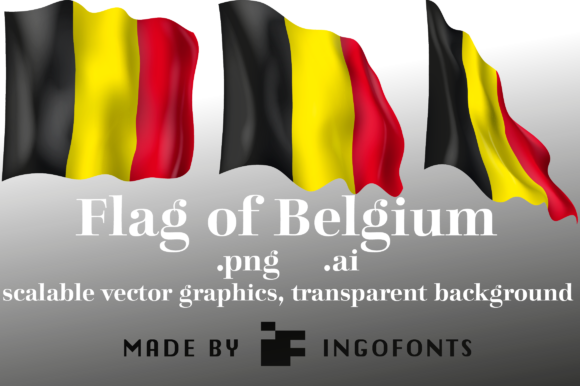 Print on Demand: Flag of Belgium Graphic Objects By ingoFonts