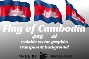 Download Free Flag Of Cambodia Grafico Por Ingofonts Creative Fabrica for Cricut Explore, Silhouette and other cutting machines.