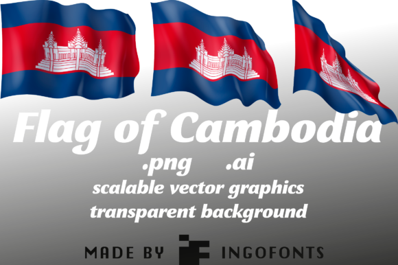 Download Free Flag Of Cambodia Graphic By Ingofonts Creative Fabrica for Cricut Explore, Silhouette and other cutting machines.