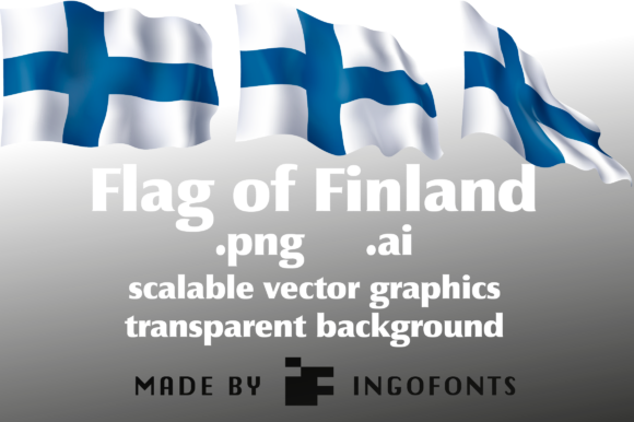 Download Free Flag Of Finland Grafico Por Ingofonts Creative Fabrica for Cricut Explore, Silhouette and other cutting machines.