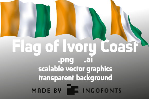 Download Free Flag Of Ivory Coast Graphic By Ingofonts Creative Fabrica for Cricut Explore, Silhouette and other cutting machines.