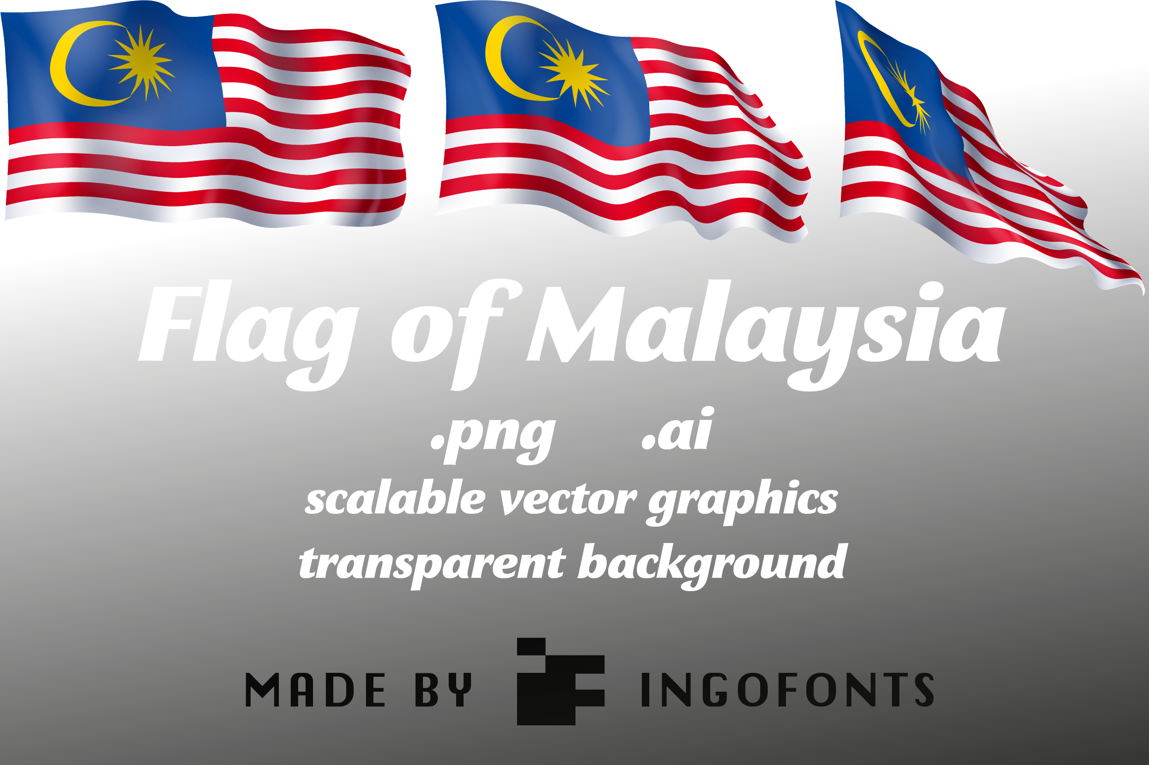 Download Free Flag Of Malaysia Graphic By Ingofonts Creative Fabrica for Cricut Explore, Silhouette and other cutting machines.