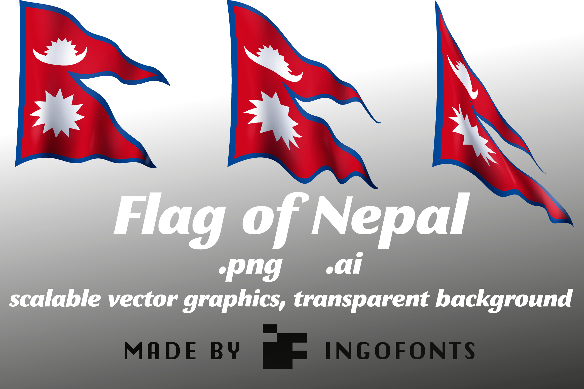 Download Free Flag Of Nepal Graphic By Ingofonts Creative Fabrica for Cricut Explore, Silhouette and other cutting machines.