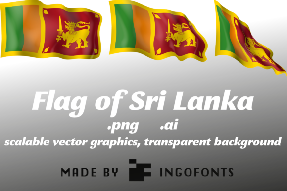Flag of Sri Lanka Graphic Objects By ingoFonts