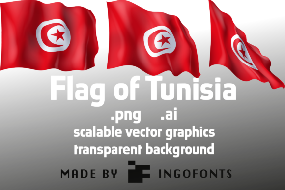 Download Free Flag Of Tunisia Graphic By Ingofonts Creative Fabrica for Cricut Explore, Silhouette and other cutting machines.