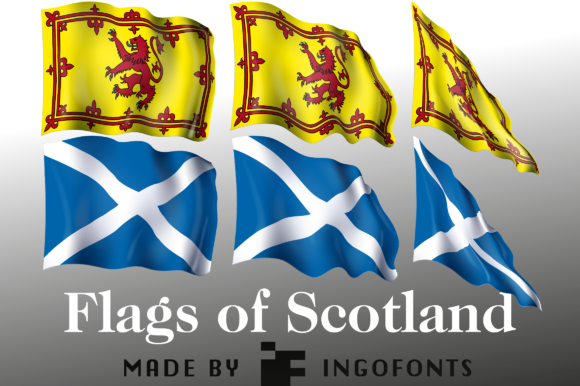 Print on Demand: Flags of Scotland Graphic Objects By ingoFonts
