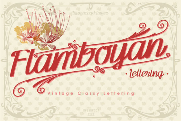 Print on Demand: Flamboyan Script & Handwritten Font By inumocca_type