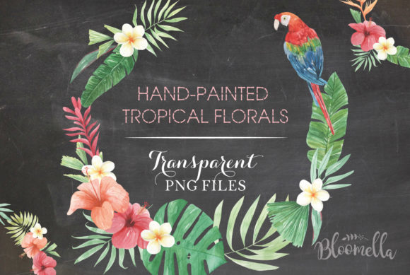 Flamingo Tucan Wreath Watercolor Parrot Graphic Illustrations By Bloomella - Image 2