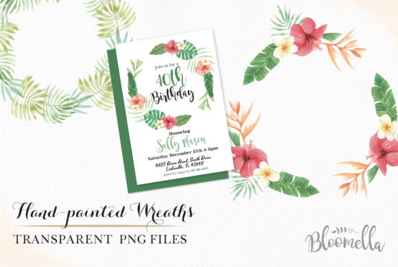 Flamingo Tucan Wreath Watercolor Parrot Graphic Illustrations By Bloomella - Image 3