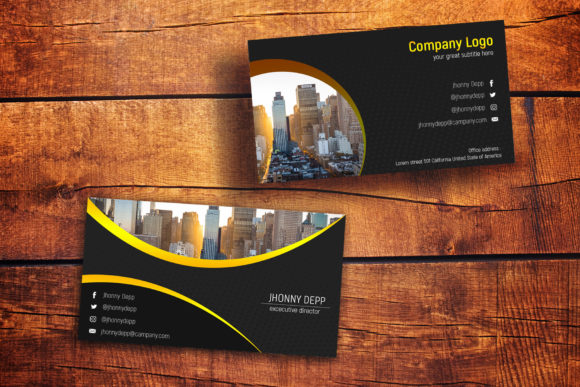Download Free Flashy Business Card Templates Graphic By Gumacreative for Cricut Explore, Silhouette and other cutting machines.