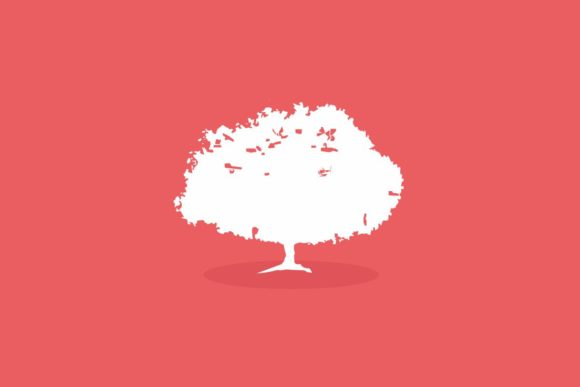 Flat Tree Background Graphic By RbkArt