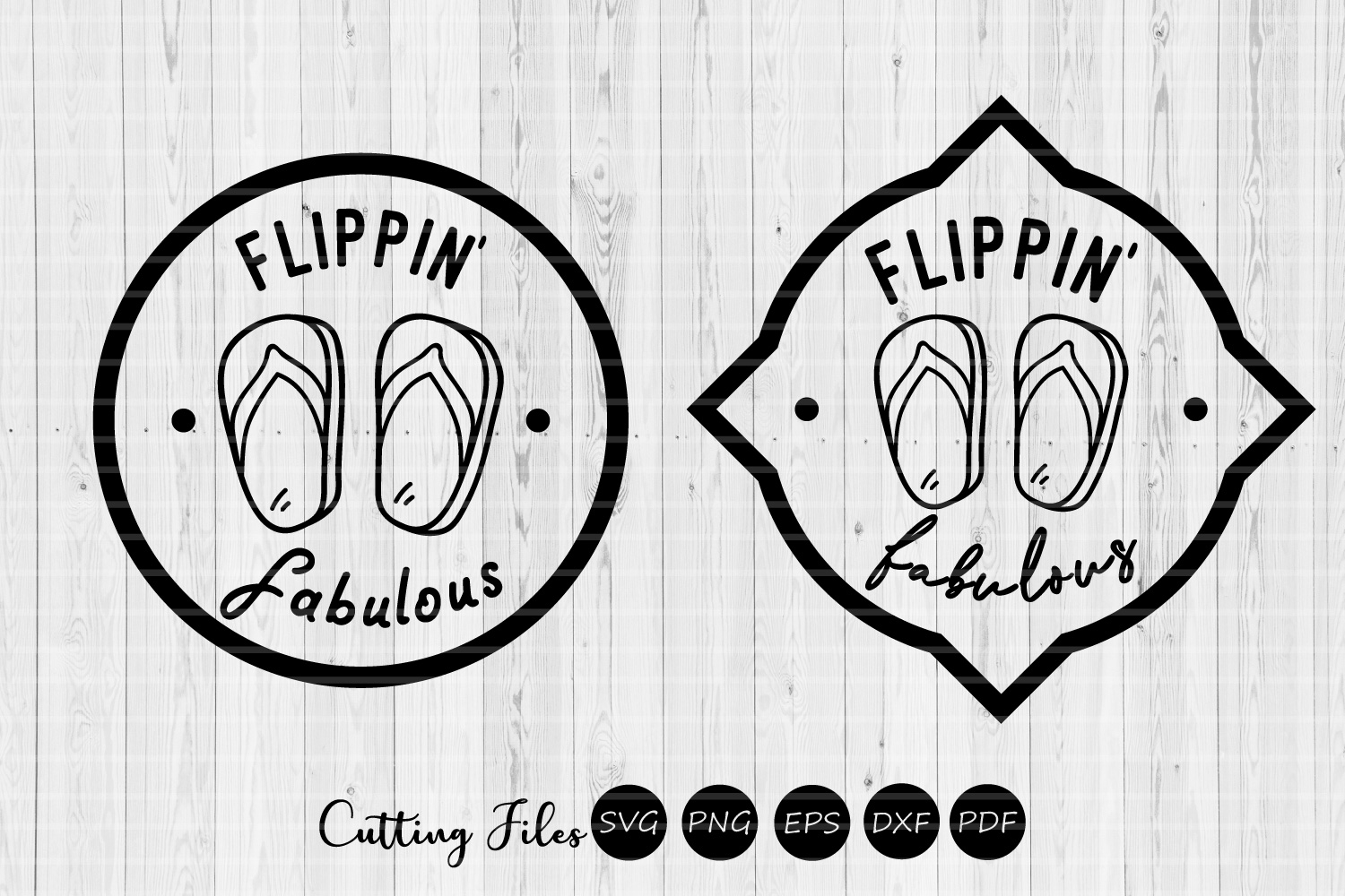 Download Free Flippin Fabulous Summer Svg Graphic By Hd Art Workshop for Cricut Explore, Silhouette and other cutting machines.