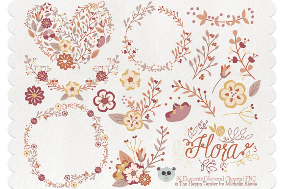 Flora 03 – Brown & Tan Graphic By Michelle Alzola Image 1
