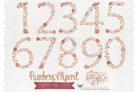 Print on Demand: Flora 03 Numbers – Brown & Tan Graphic Illustrations By Michelle Alzola - Image 2