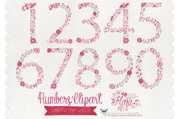 Print on Demand: Flora 05 Numbers – Red & Pink Graphic Illustrations By Michelle Alzola - Image 2