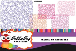 Floral 19 Paper Set Graphic By BUBBABUG