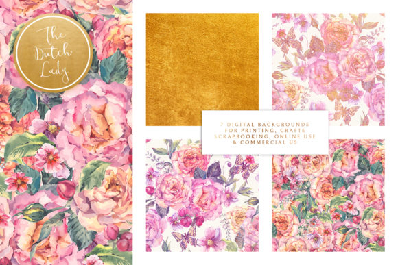 Print on Demand: Floral Background & Paper - Elizabeth Graphic Textures By daphnepopuliers - Image 2