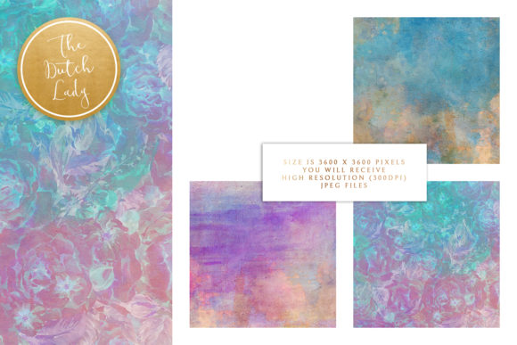 Print on Demand: Floral Background & Paper - Elizabeth Graphic Textures By daphnepopuliers - Image 3