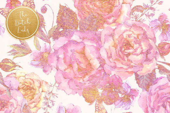 Print on Demand: Floral Background & Paper - Elizabeth Graphic Textures By daphnepopuliers - Image 4