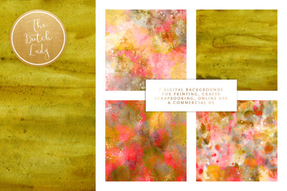 Floral Background & Paper - Isabella Graphic By daphnepopuliers Image 2