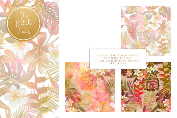Floral Background & Paper - Isabella Graphic By daphnepopuliers Image 3