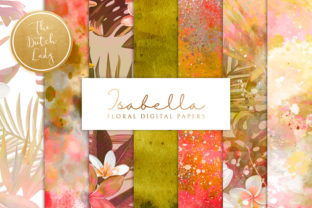 Print on Demand: Floral Background & Paper - Isabella Graphic Patterns By daphnepopuliers
