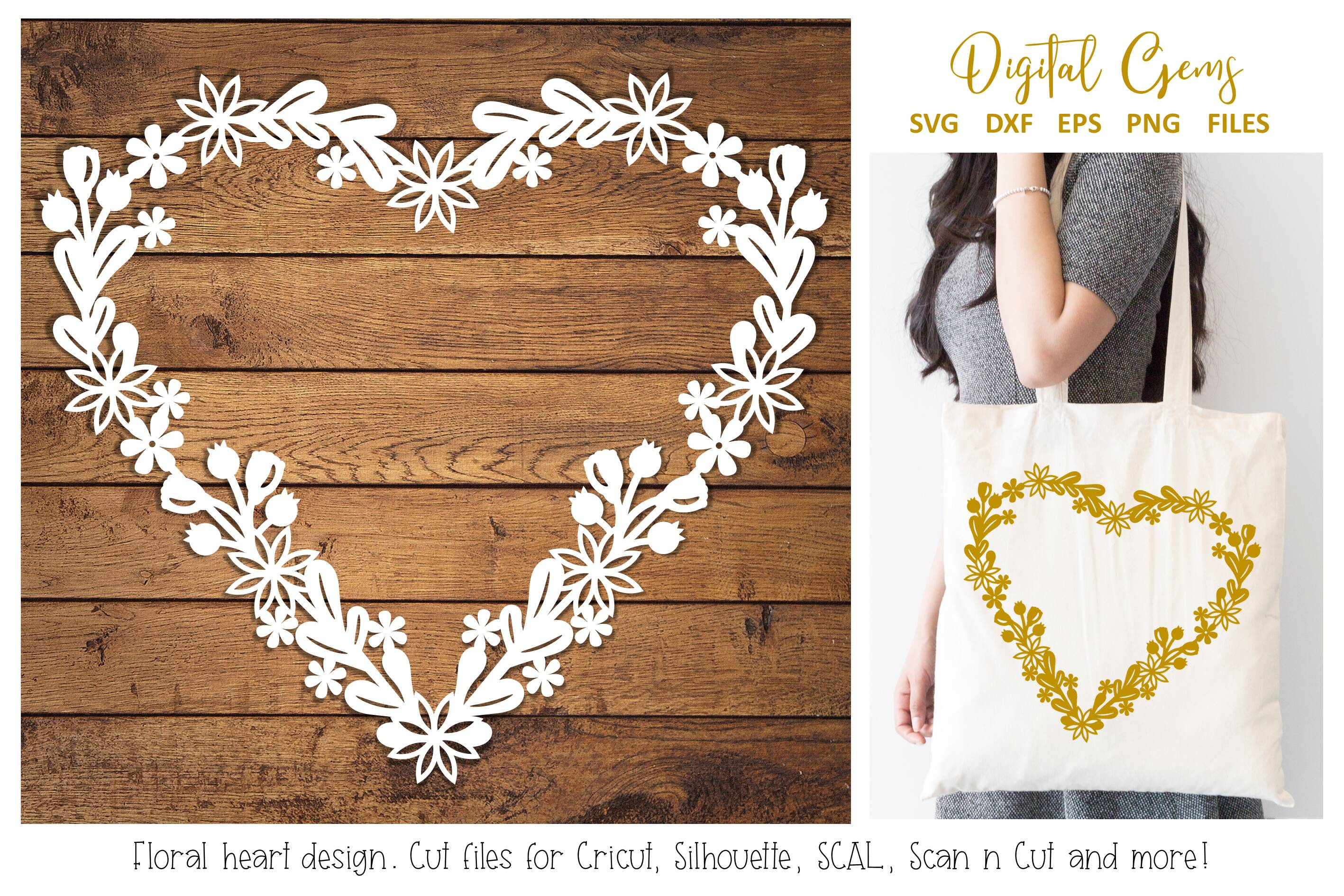 Download Free Floral Heart Paper Cut Design Graphic By Digital Gems Creative for Cricut Explore, Silhouette and other cutting machines.