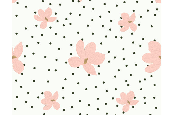 Print on Demand: Floral Small Cute Magnolia Seamless Graphic Patterns By iop_micro