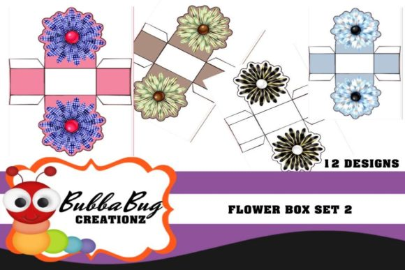 Flower Box Set 2 Graphic Crafts By BUBBABUG