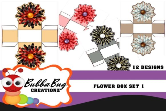 Flower Boxes Set 1 Graphic Crafts By BUBBABUG