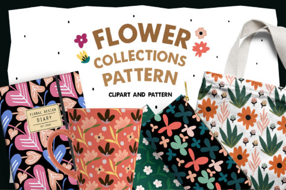 Flower Collections Pattern Graphic Objects By Caoca Studios